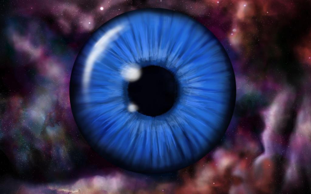Eyeball in space wip 1 by XantheUnwinArt