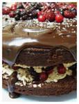 Chocolate Berry Mud Cake