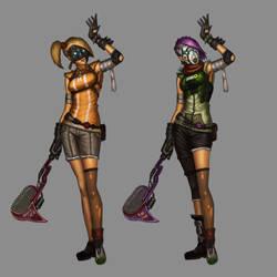 Borderlands Fan Concept - Female Bandits by stonepro