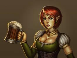 Fantasy Bar Maid by stonepro