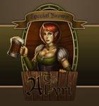 Fantasy Bar Maid (Beer Label Version)
