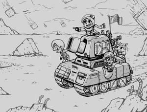 Pixel Tank Crew Sketch