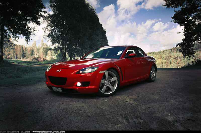 mazda rx8 custom red. mazdatiger 36 11 mazda rx8 at golf course 2 by dejz0r rx8 custom red