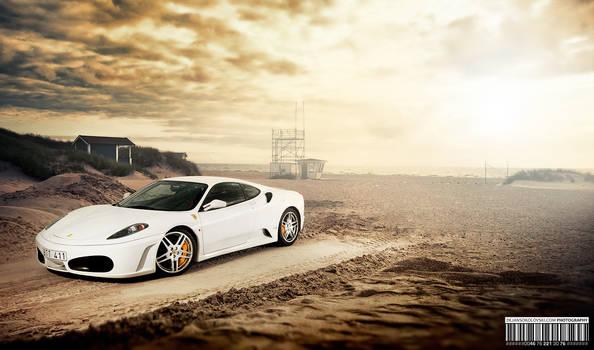 Ferrari F430 at the beach