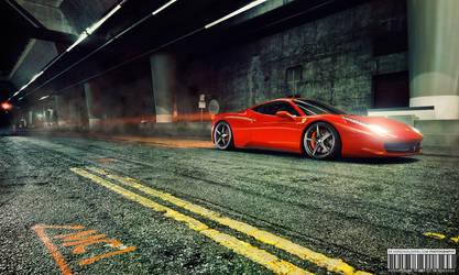 Ferrari 458 in Gotham City