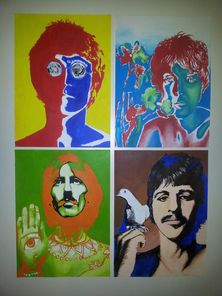 The Beatles by Richard Avedon Acryl paintings by ...