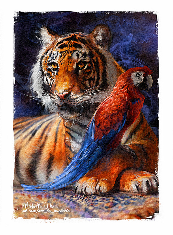Rajah and Iago by Michelle-Winer