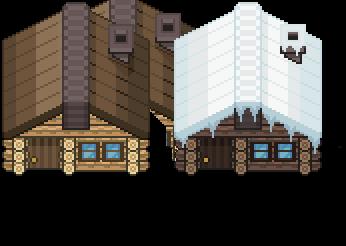 Wooden Log Cabin Tile by PkmnAlexandrite