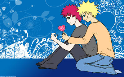 GaaNaru Widescreen Wallpaper by Gaara-x-Naruto-Club