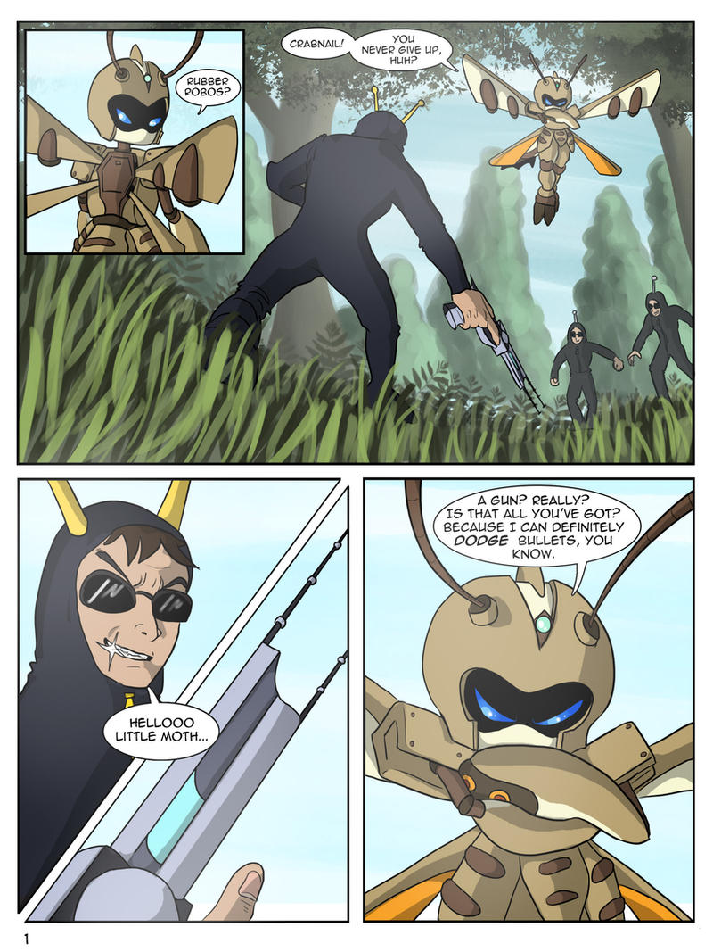 page 1 - Trouble - Suzumega Medabot by AltairSky