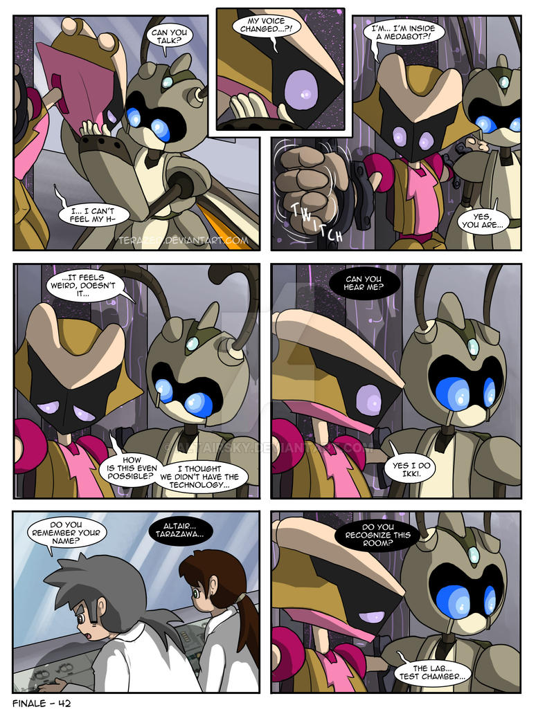 Finale 042 - A New Beginning - Suzumega Medabot by AltairSky