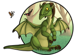 Zinnia the dragon for NairaNorica by AltairSky