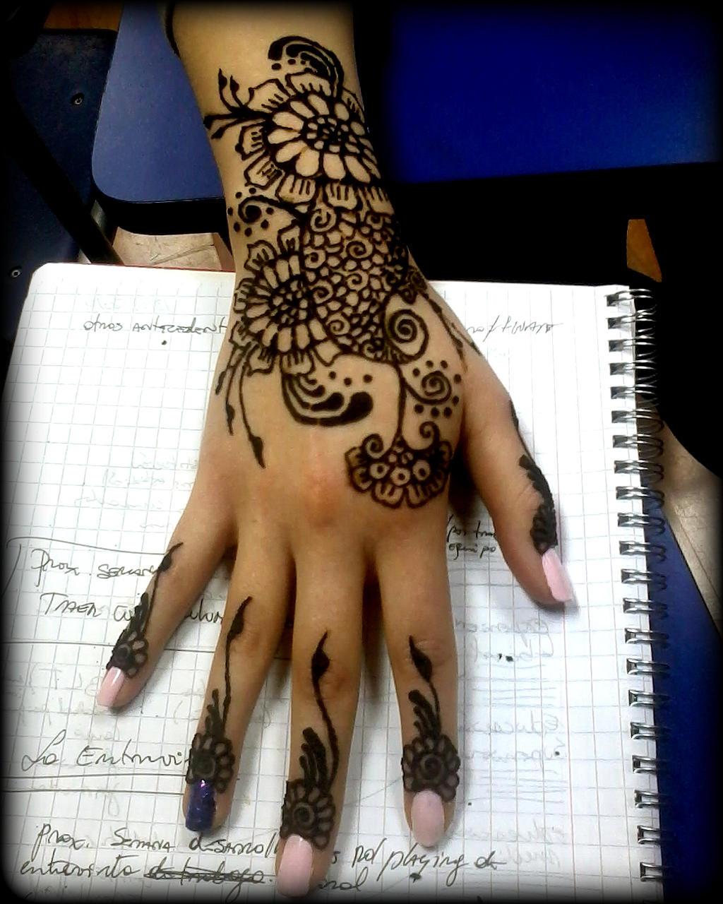 Hand mehndi design (flower series #5)