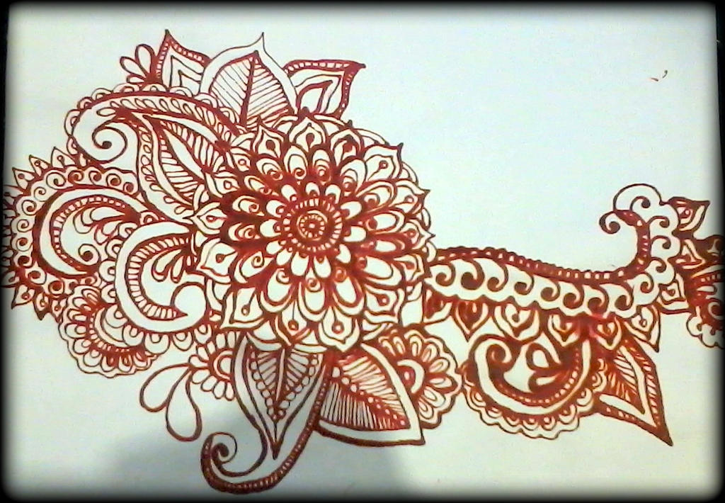 Mehndi Flower Image : Big flower mehndi design series by aniiron on deviantart