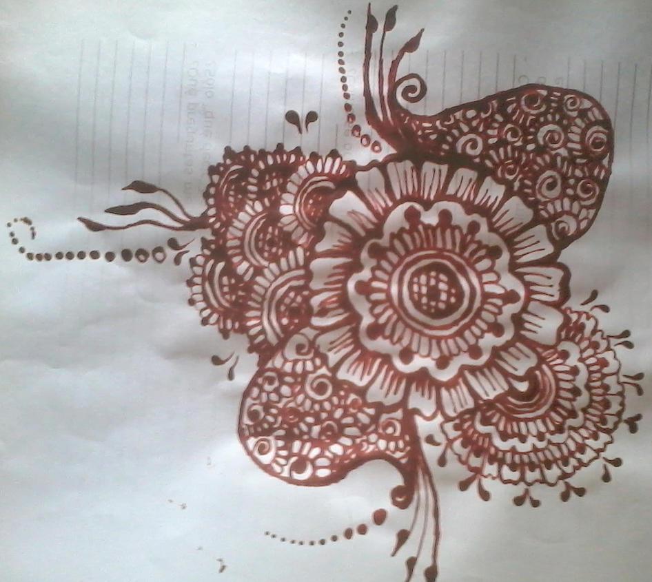 Big Flower Mehndi Design : Big flower mehndi design series by aniiron on