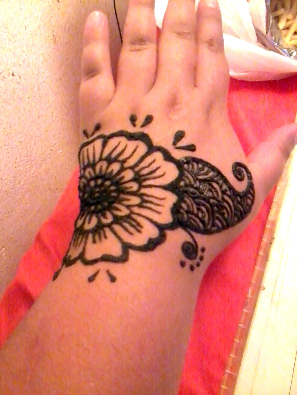 Mehndi Flower Designs Simple : Simple hand henna design flower series by aniiron on