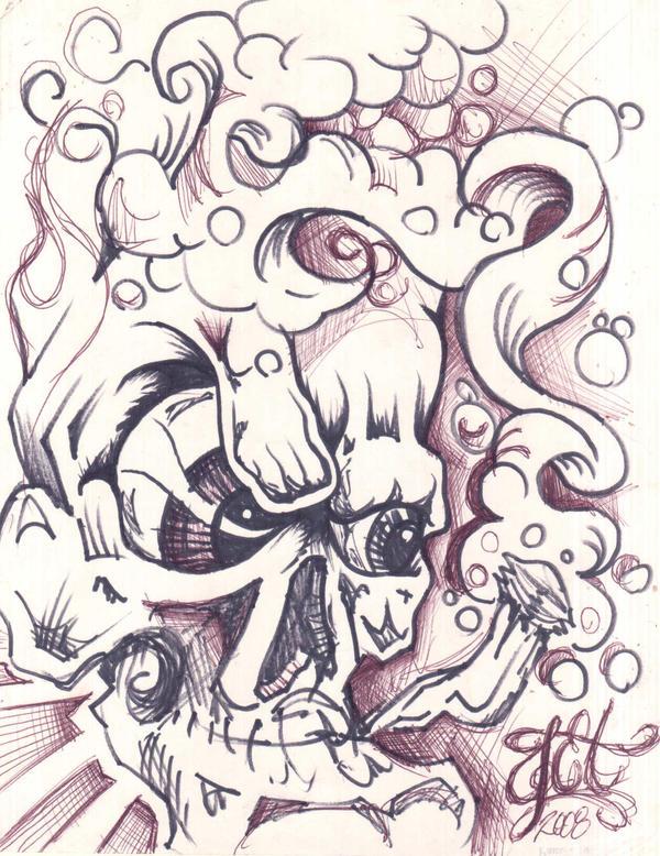 graff skull by prodigy 420 on deviantart. Black Bedroom Furniture Sets. Home Design Ideas