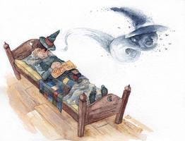 Discworld - Granny Weatherwax by Riana-art