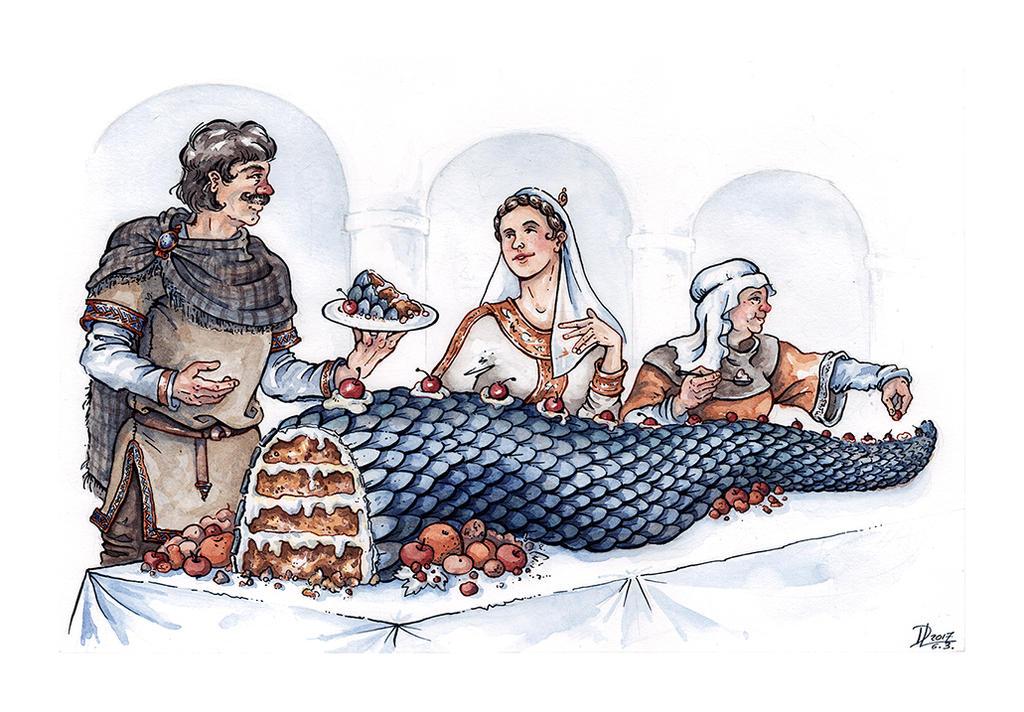 Farmer Giles of Ham - A Dragon' s Tail by Riana-art