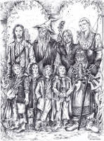 Lord of the Rings Fan Art form 2002 by Riana-art