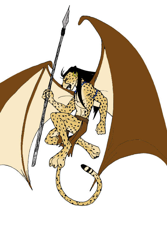 Cheetah Warrior in Colour by marienoire on deviantART
