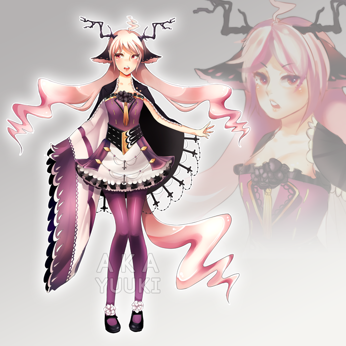 Adoptable Auction - Poisoned Gum Rose [CLOSED] by Aka-Yuuki