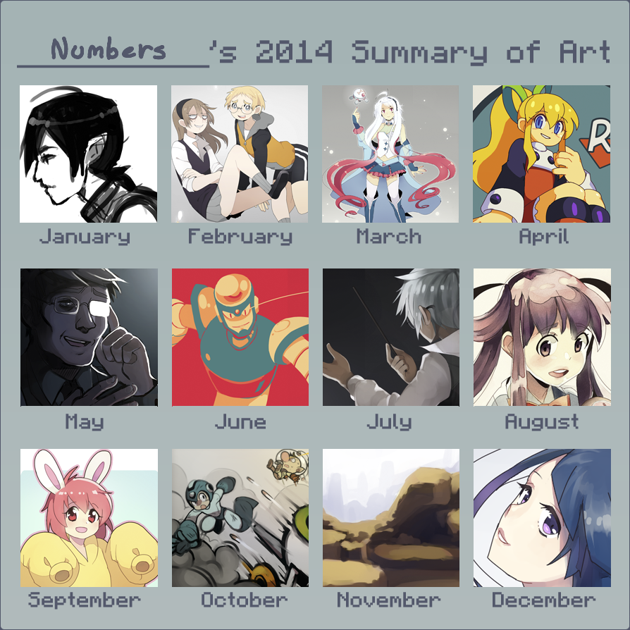 [2014 Summary] The year I actually colored stuff. by BoarsBoarsBoars