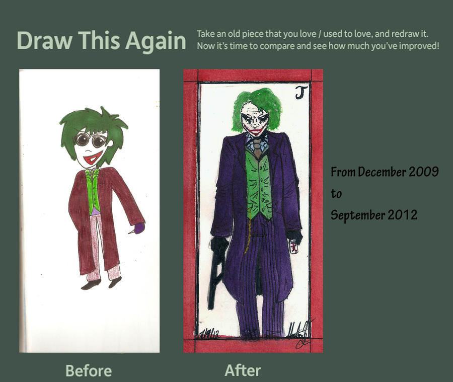 Draw This Again Contest-the joker by hatoola13