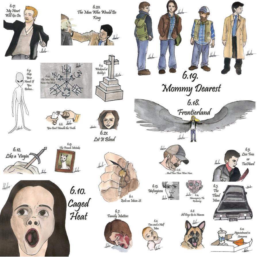 Watch Lucifer Season 4 Gomovies: Drawing Per Episode-Supernatural Season 6 By Hatoola13 On