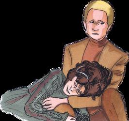 Odo and Lwaxana Troi by hatoola13
