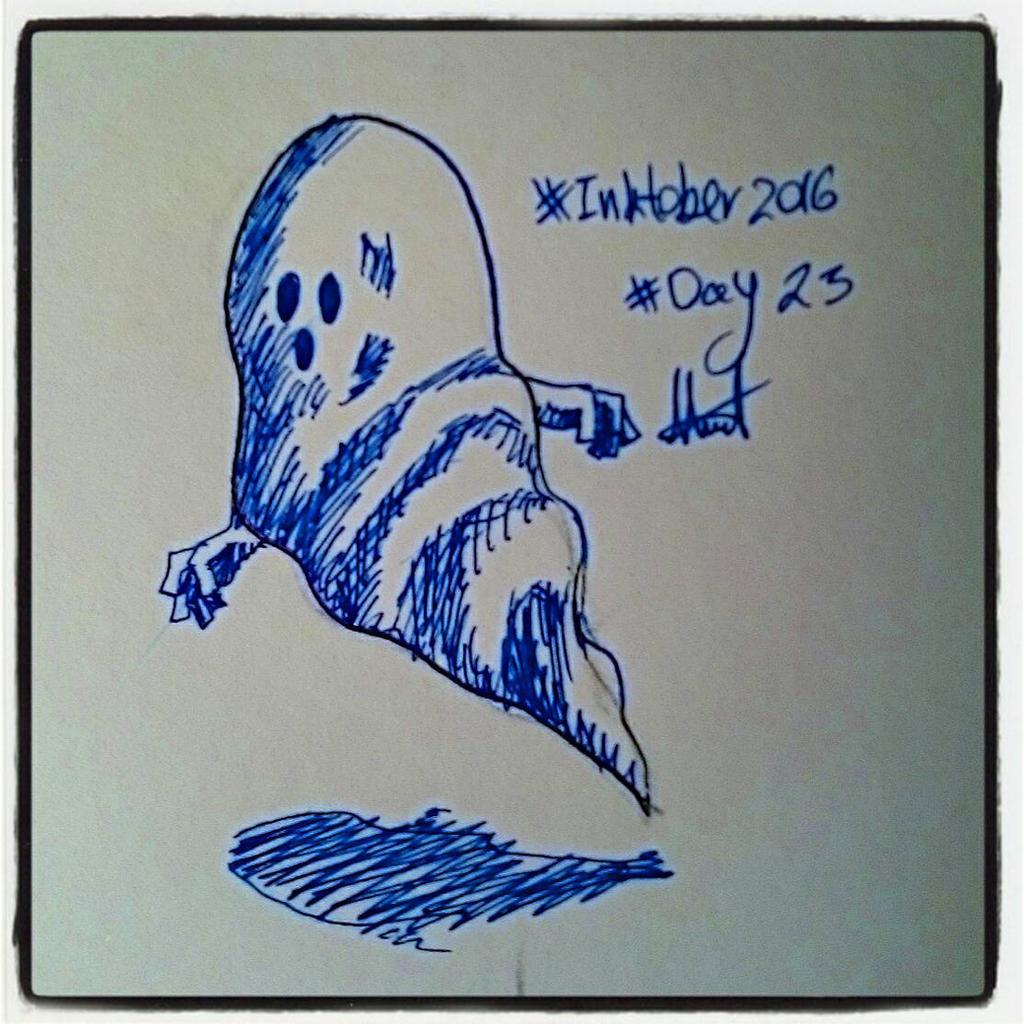 inktober #23 - blue by hatoola13