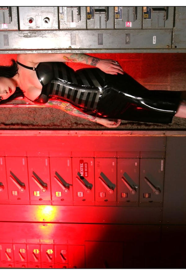 Courtney Cruz in Anyssa Corset by fiercecouture