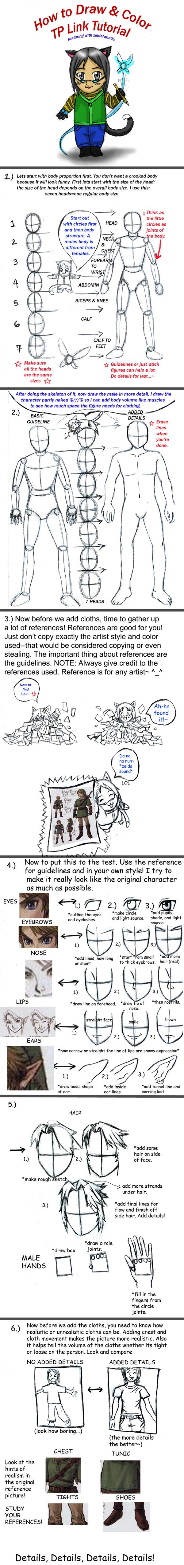 How to Draw TP Link Tutorial by Rinkuchan27