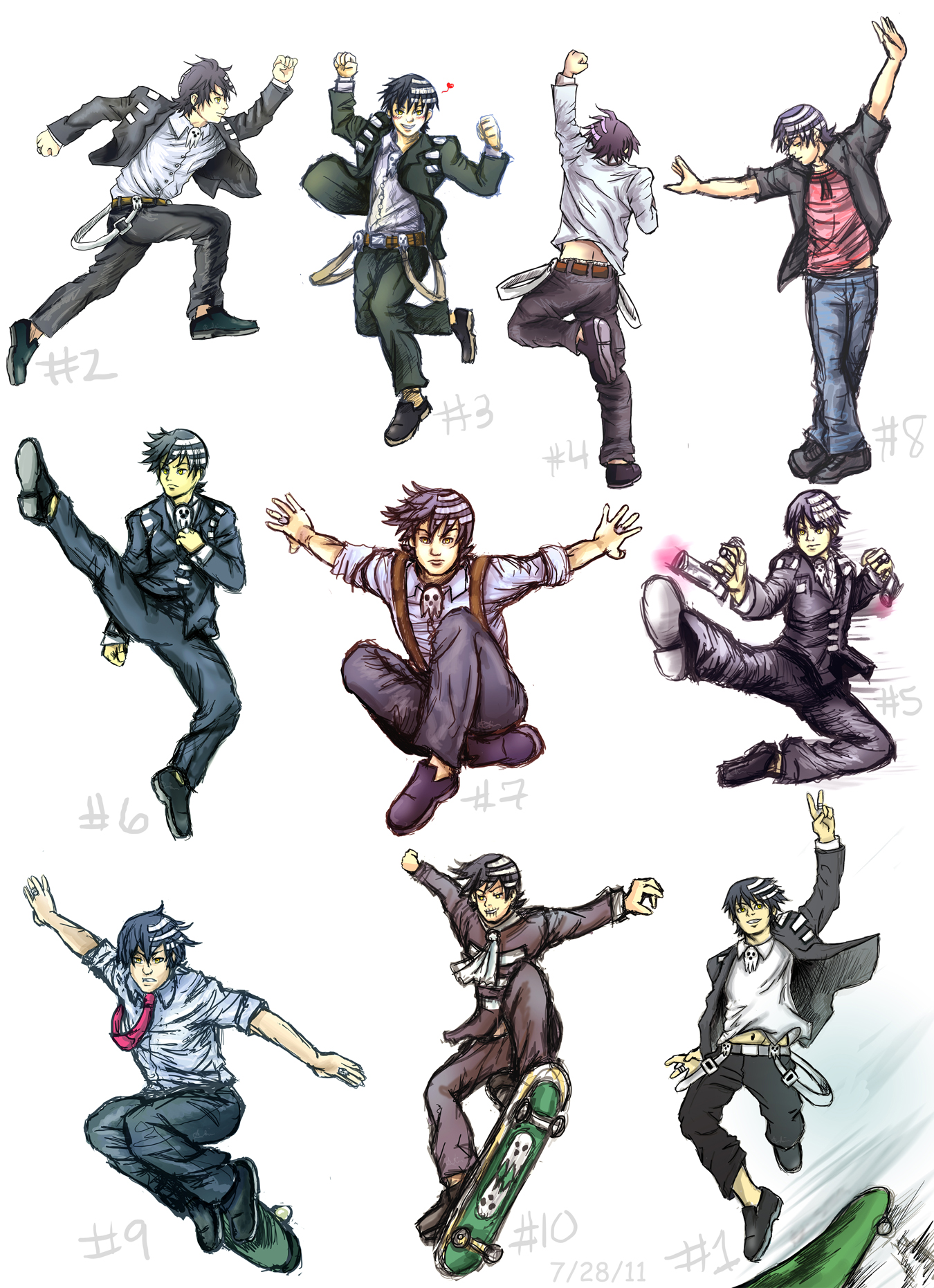 Dtk Action Poses Collage1 By Rinkuchan27 On Deviantart Image of anime your prince awaits have a sweet dream sleeping with. dtk action poses collage1 by