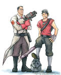 TF2: MvsM Medic and Scout