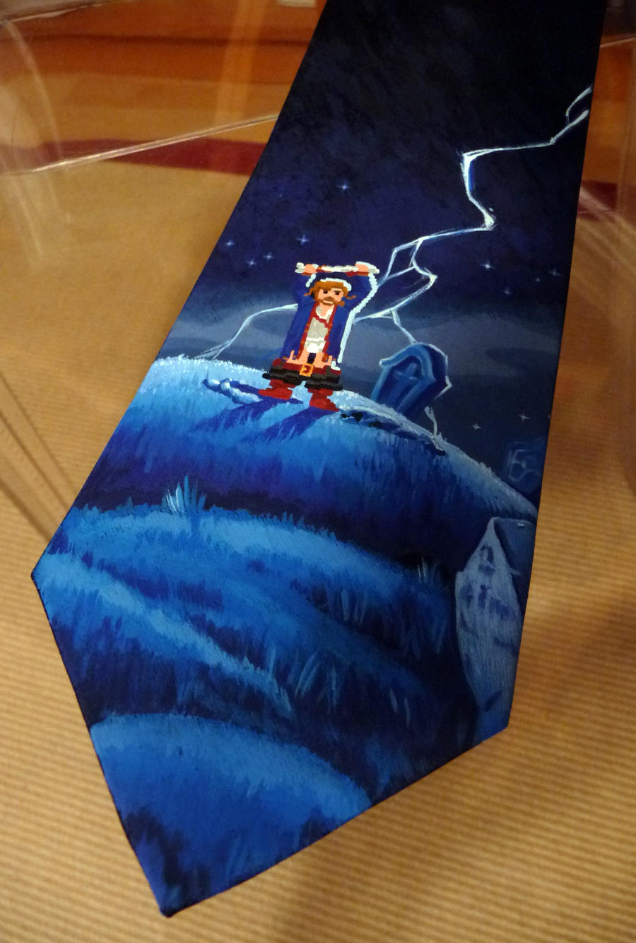 Diggin' Guybrush tie by Maya-Plisetskaya