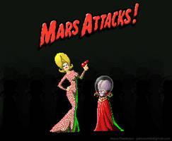 Mars Attacks pixel art