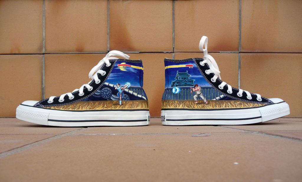 Street Fighter Converse chucks by Maya-Plisetskaya