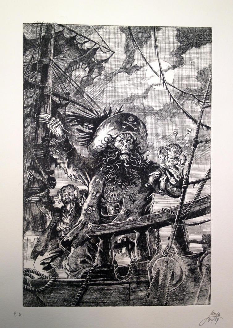 Monkey Island 2 engraving by Maya-Plisetskaya