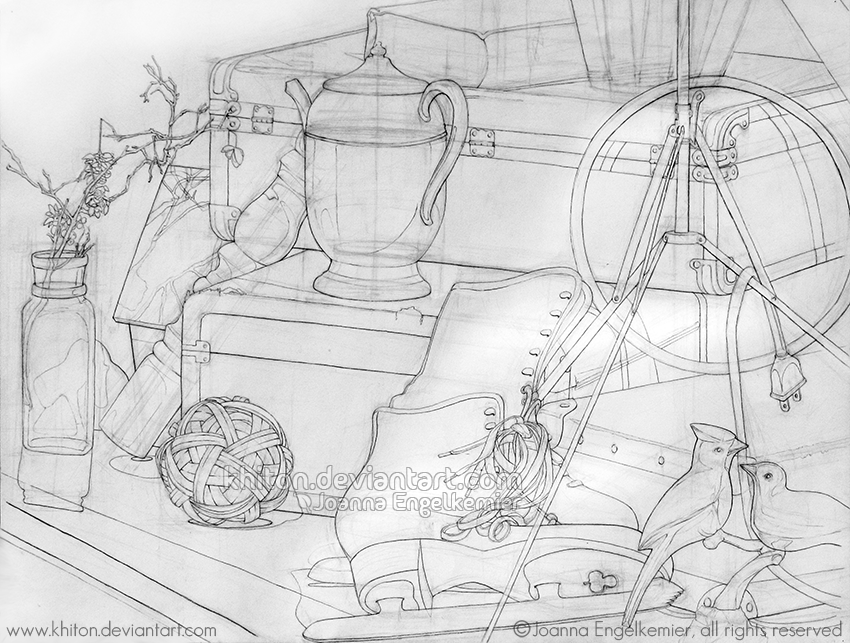 Drawing Lines In Processing : Contour line still life by khiton on deviantart