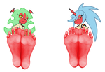 Scanty and Kneesocks Want You To Lick Their Feet by ReturnOfXand96