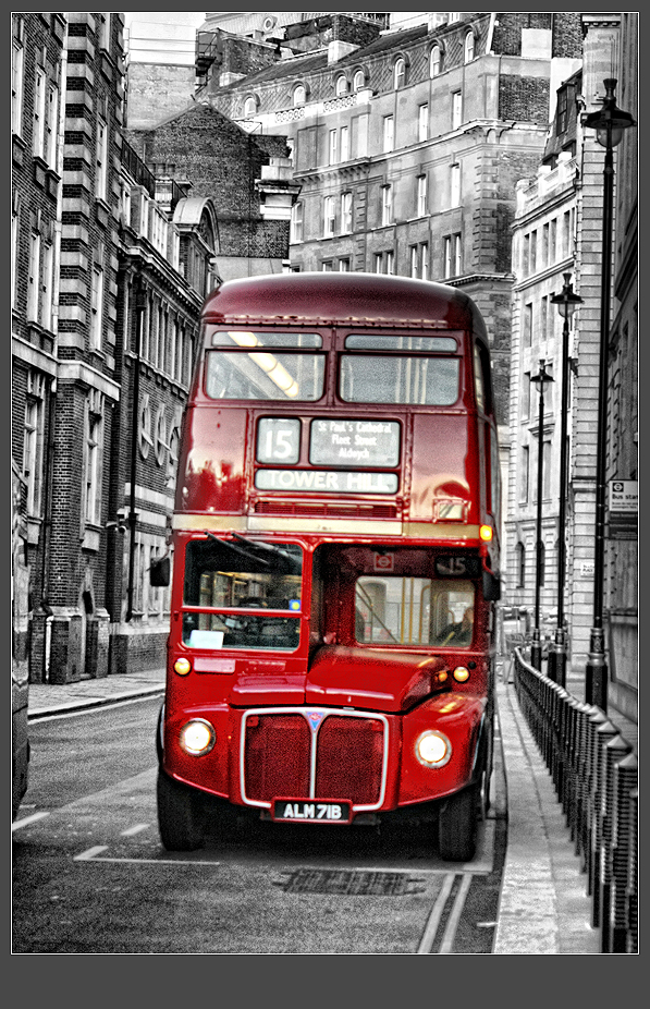 Traditional Red Bus In London By Whiteway On Deviantart