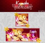 Tagwall Kumiko Gold flowers by Hitsu26
