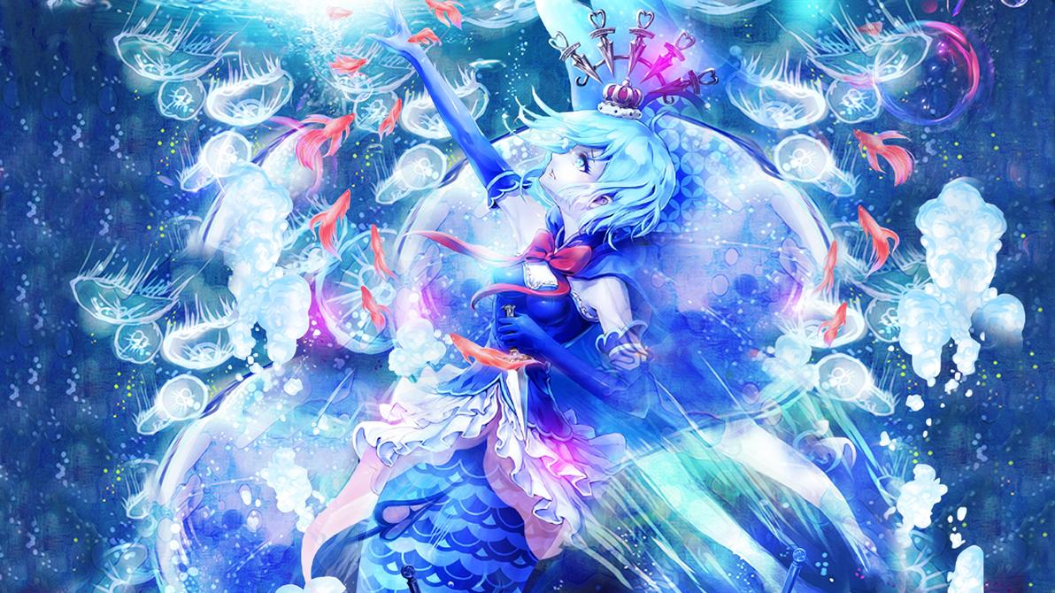 Wallpaper Distress of Mermaid by Hitsu26