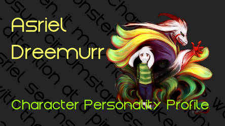 Asriel Dreemurr: Narrated Video by characterconsultancy