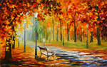 SILENCE OF THE FALL by Leonid Afremov