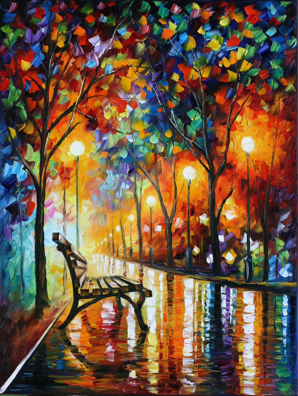 Loneliness of Autumn by Leonid Afremov by Leonidafremov
