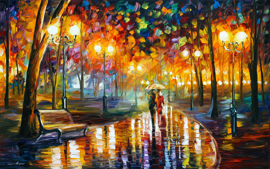 Rain's Rustle by Leonid Afremov by Leonidafremov