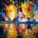 BALLOON FESTIVAL by Leonid Afremov by Leonidafremov