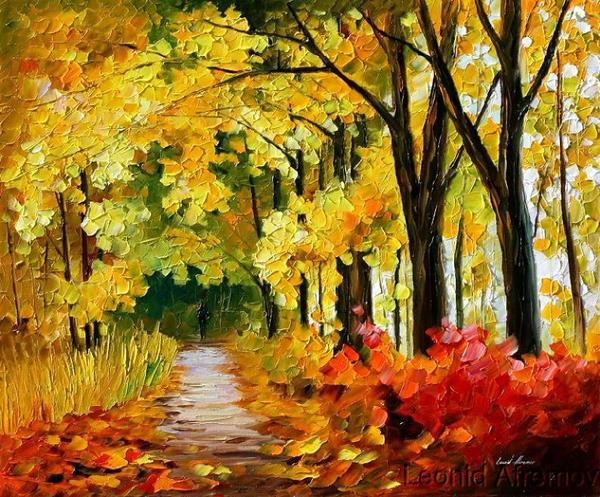 рисунок золотая осень в школу